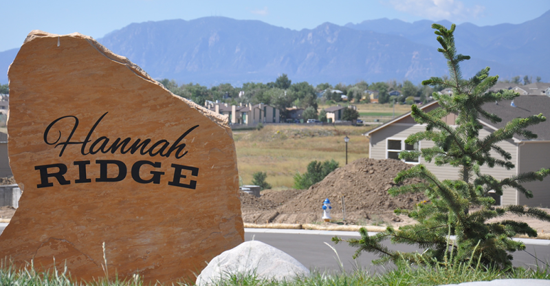 New homes colorado springs phase i hannah ridge for Modern homes colorado springs
